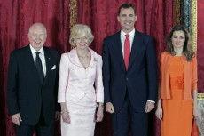 The Prince and Princess of Asturias lunch with the Governor-General of Australia