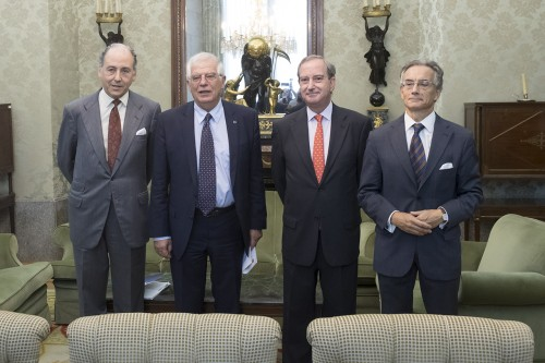 Meeting of the Minister of Foreign Affairs, European Union and Cooperation, Mr. Josep Borrell, with the Secretary General of the Spain Australia Council Foundation