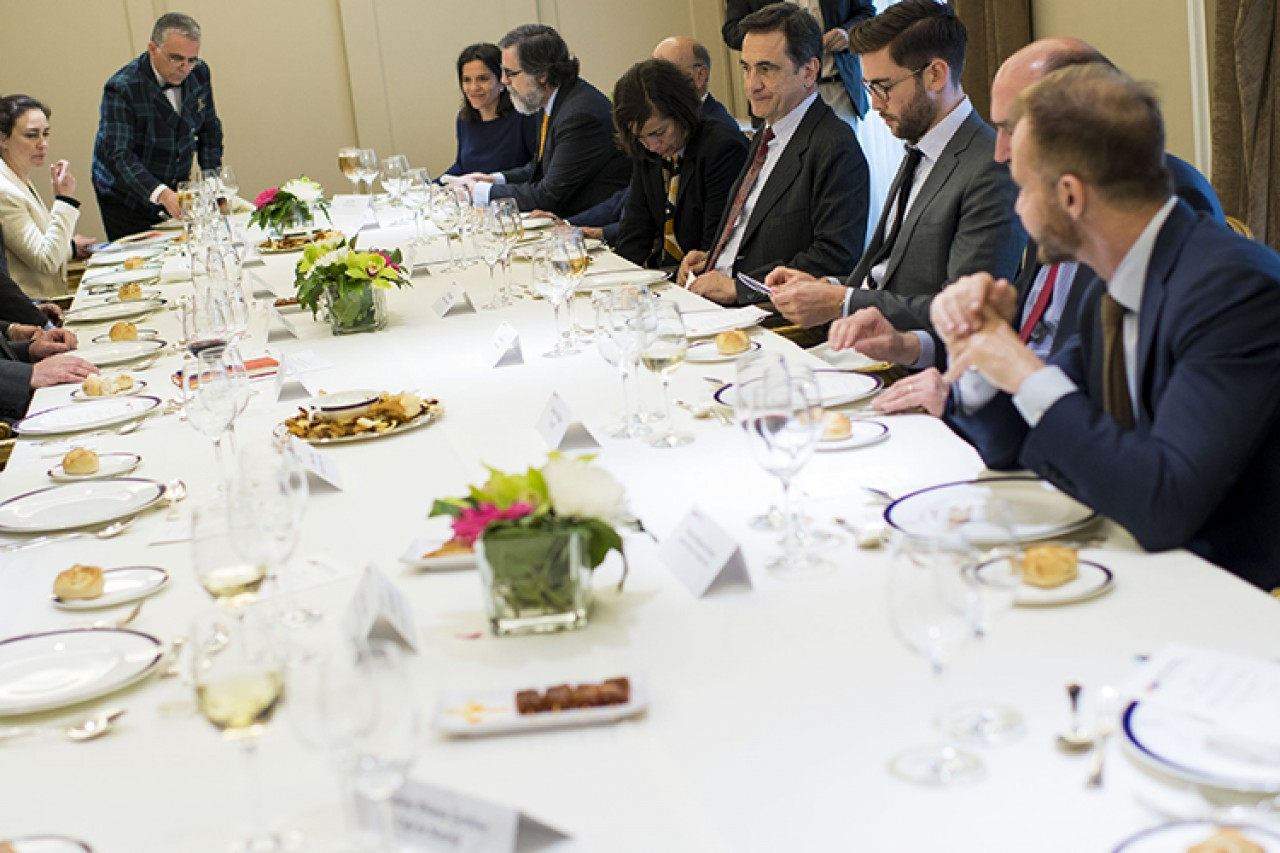 Lunch with representatives of spanish think tanks