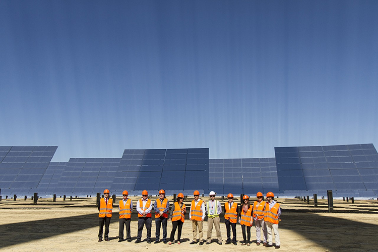 Visit to Abengoa's solar thermal power station